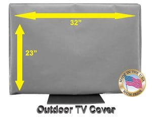 "1.32"" Outdoor TV CoverTop Premium Quality Weather Resistant Soft Non Scratch Interior Made in USA (Televisions up to 38"")"