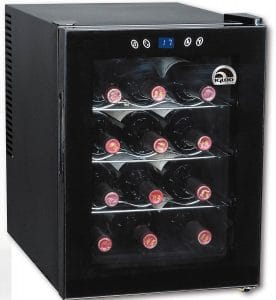 Igloo FRW133 12-Bottle Wine Cooler with Digital Temperature Display