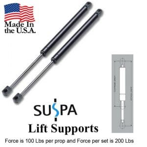 "Suspa C16-08054 C1608054 20"" Gas Prop, Quantity (2), Force 100 Lbs per Prop, Force per Set 200 Lbs"
