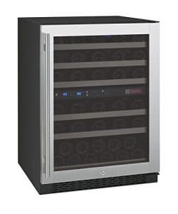 Allavino FlexCount VSWR56-2SSRN - 56 Bottle Dual Zone Wine Refrigerator with Right Hinge Built-In