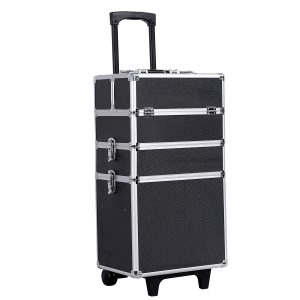 SONGMICS 4-in-1 Rolling Makeup Train Case