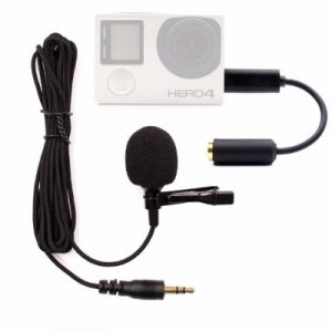 Microphone for GoPro, PANNOVO 3.5mm mini Mic microphone