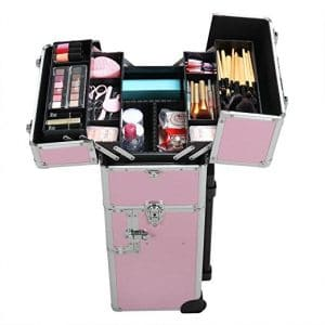 Radical Deal 2-wheels 3-in-1 Professional Multifunction Artist Rolling Trolley Makeup Beauty Train Case