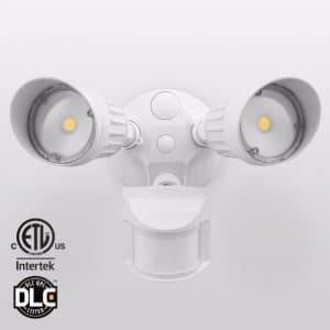 20W Dual-Head Motion-Activated LED Outdoor Security Light, Photocell Included, Newly Designed 3 Lighting Modes