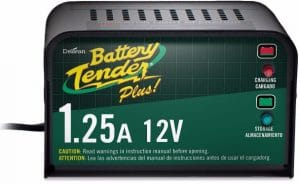 Battery Tender Plus 021-0128 Car Battery Charger, 1.25 Amp