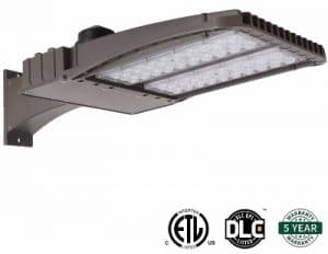 Hykolity 150W LED Shoebox Outdoor Commercial Pole Light Weatherproof Parking Lot