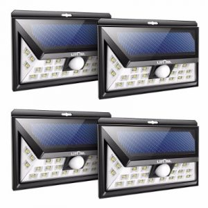 Litom 24 LED SOLAR LIGHTS OUTDOOR, Super Bright Motion Sensor Lights