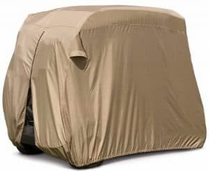 Classic Accessories Fairway Easy-On Golf Cart Cover, Tan