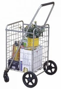 Wellmax WM99024S Easily Collapse Shopping Cart
