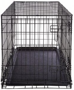 AmazonBasics Single Door _ Double Door Folding Metal Dog Crate with Paw Protector
