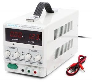 Lavolta 30V 5A Power Supply with Handle - Variable Regulated Adjustable Linear DC Lab Kit