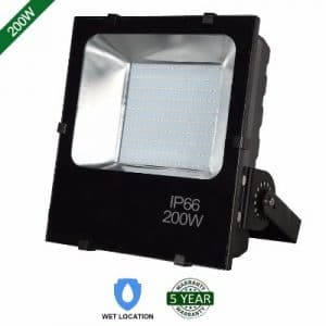 Hykolity 200W LED Flood Light Outdoor Security Light Weatherproof Parking Lot