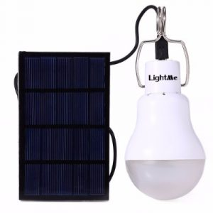 LightMe 2016 Newest Portable 15W 130LM Solar Powered Led Bulb Light Outdoor Solar