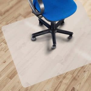 Office Chair Mat on Hardwood Floor