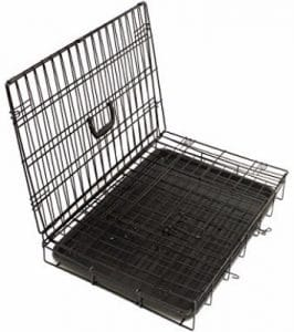 Paws _ Pals Dog Crate Double-Door Folding Metal - Wire Cage w_ Divider for Training Pets