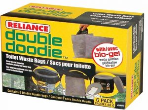 Reliance Products Double Doodie Toilet Waste Bags (6-Pack)
