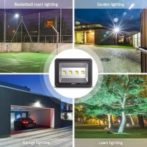 AMMON LED Flood Light, 200W Outdoor Waterproof IP65 20000lm Super Bright Flood