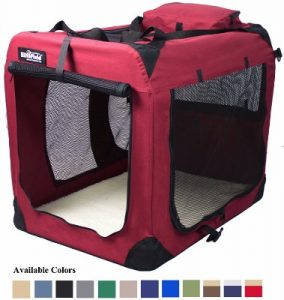 EliteField 3-Doors Folding Soft Dog Crate