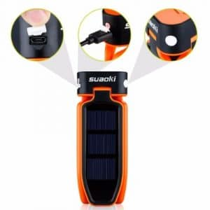Suaoki Collapsible Clover Style 18 Led Camping Tent Lantern Lighting Lights Flashlight
