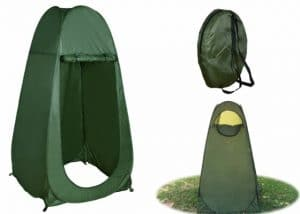TMS Portable Outdoor Green Pop Up Tent Camping Shower with Window