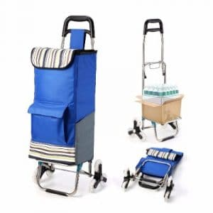 ROYI Upgraded Folding Shopping Cart, Blue