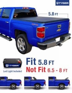 Tyger Auto TG-BC3C1006 Truck Bed Cover, Tri-fold