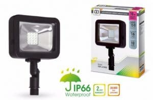 LLT LED COMPACT Floodlight with Arm SMD Outdoor Landscape Security Waterproof