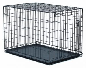 New World Folding Metal Dog Crate_ Single Door _ Double Door Dog Crates