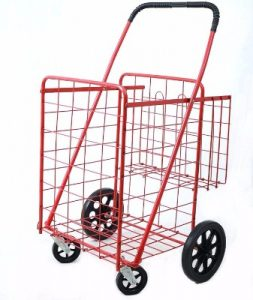 LavoHome Premium Size Folding Shopping Cart