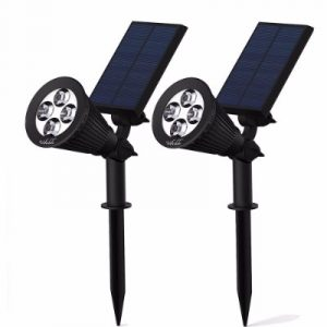 Solar Spotlights, Solar Lights 2-in-1 Adjustable Landscape Wall Light Waterproof Security