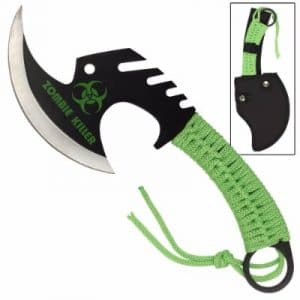 Zombie Killer Skullsplitter Throwing Axe – Green