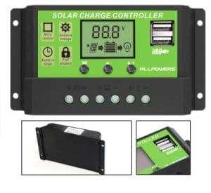 ALLPOWERS Dual USB 20A Solar Charge Controller 12V_24V Auto Parameter Adjustable