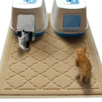 Non-Toxic JUMBO Size Cat Litter Mat | 47 x 36 in | Scatter Control for Litter Box