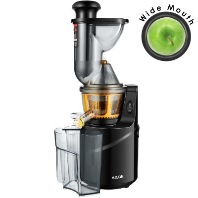 Juicer Machine Masticating Slow Juicer Extractor, Aicok 3 Big Mouth Whole Masticating