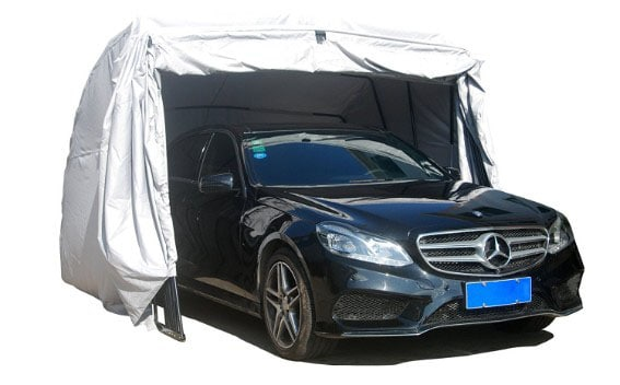 Ikuby Retractable, Foldable 100_ Car Shelter