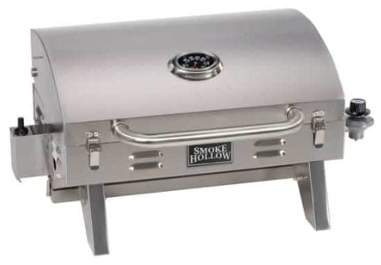 Smoke Hollow 205 Stainless Steel Propane Gas Grill, Perfect for Tailgating, Camping