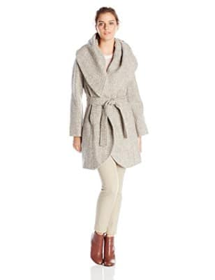 T Tahari Women_s Marla Tweed Wrap Coat