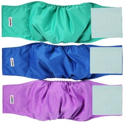 Wegreeco Washable Diapers for Male Dog (Pack of 3)