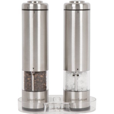 Latent Epicure Battery Operated Salt and Pepper Grinder Set (Pack of 2 Mills)