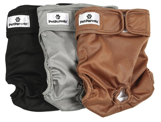 Pet Parents Premium Washable Doggie Diapers (3pack)