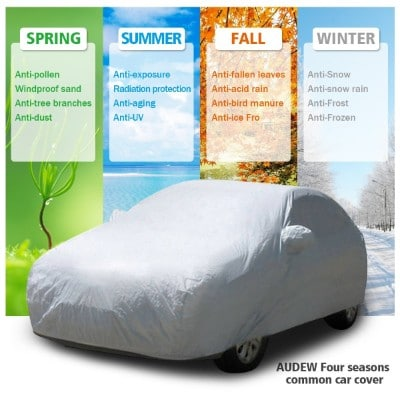 AUDEW Car Cover SUV Cover Car Snow Cover Waterproof :Windproof:Dustproof:Scratch Resistant