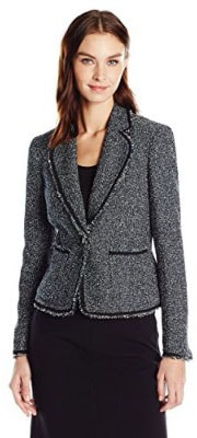 Anne Klein Women_s Boucle Tweed Jacket