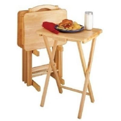 Essential Home Snack_TV Folding Table Set 5-piece
