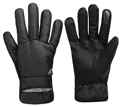 GLOUE Men's Gloves Waterproof Touchscreen Gloves, Black