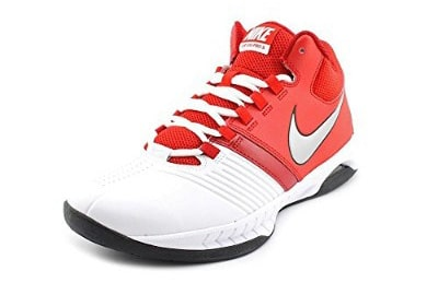 Women's Nike Air Visi Pro V Basketball Shoe White:University Red:Metallic Silver