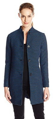 Anne Klein Women_s Ribbon Tweed Topper