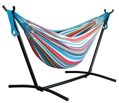 Driftsun Double Hammock with Steel Stand - Space Saving Two Person