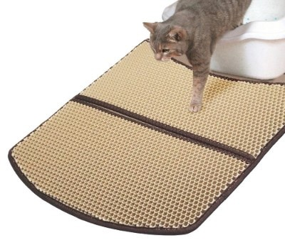 WooPet! Cat Litter Mat Large 24 x 22, Scatter Control Kitty Litter Mats