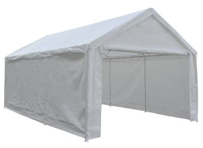 Abba Patio Heavy Duty Car Shelter, Carport with Detachable Sidewalls, 12 x 20-Feet, White