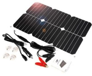 ALLPOWERS Solar Battery Maintainer 18V 12V 18W Solar Car Boat Power Panel Charger